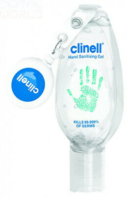 Clinell Hand Sanitising Gel with Retractable Clip - 50ml
