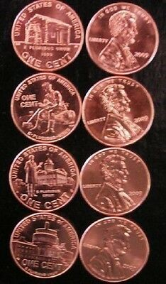 Complete Set Lincoln Bicentennial 2009 Pennies P & D From Mint Rolls 8 Coins