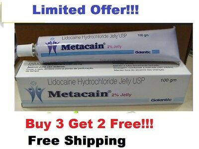 30gm Lidocaine 2% Metacain Jelly Topical Numb pain Tattoos