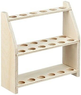 Neolab Electric Long Wooden Test Tube Rack for 12JARS ON TWO LEVELS, Hole Diam