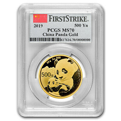 2019 China 30 Gram Gold Panda MS-70 PCGS (FS, Flag Label) - SKU#178515
