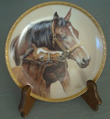 """American Artists Patience By Fred Stone Horse Collector Plate 6.5"""" With COA"""