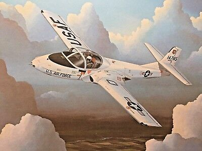 Cessna T-37B Ltd Ed Print by Richard Broome SIgned/Numbered 348/400