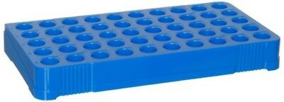 Heathrow Scientific HD23229B Cryogenic Vial Holder, 50-Well, Blue (Pack of 4)