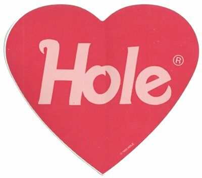 HOLE Heart new vinyl Sticker/Decal rock music band car bumper courtney love