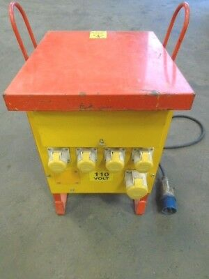 5 KVA,110v Site Transformer / Distribution Box with 4 x 16, 1 x 32 amp outlet
