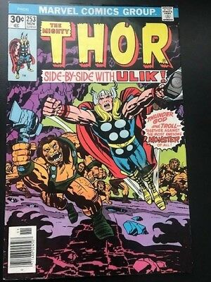 The Mighty Thor #253 Vol 1  Marvel Comics Bronze Age  FN+  Cents Issue
