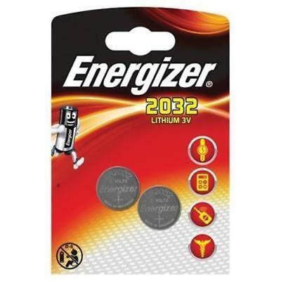 SALE - 4 X GENUINE Energizer 2032  3V Lithium Coin Cell Batteries - ONLY £1.89
