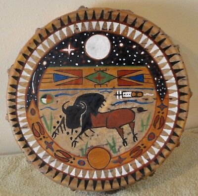 Buffalo Dream / Native American Drum Painted by Lakota Artist Sonja Holy Eagle