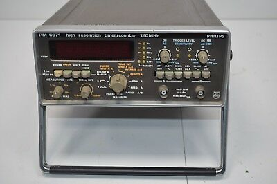 NICE Philips High Resolution Counter Timer 120MHz   # - PM 6671