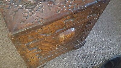 Chinese Carved Camphor wood Chest / Trunk