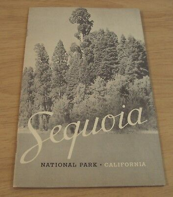 """VTG 1938 TRAVEL Guide/Fold-Out MAP~""""SEQUOIA NATIONAL PARK"""" California~"""