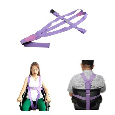 AntiSlip Elderly Wheelchair Belt Safety Harness Strap Prevent ForwardSliding