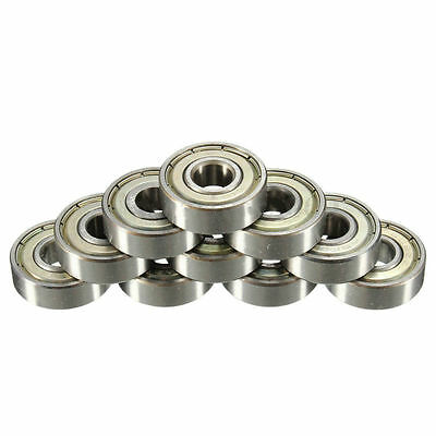 For Skateboard Roller Blade Carbon Steel 10PCS 608zz Deep Groove Ball Bearing