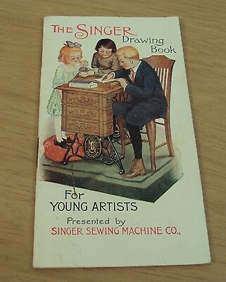 """Antique ca 1900 """"The SINGER DRAWING BOOK"""" For YOUNG ARTISTS~"""