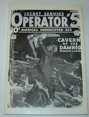 """Operator #5 """"cavern Of The Damned"""" (1980) Pulp Reprint By Dimedia (Near Mint)"""