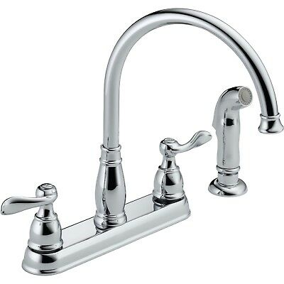 Delta Windemere Centerset Kitchen Faucet with Side Sprayer in Chrome 522494