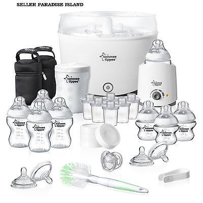 Tommee Tippee Closer to Nature Complete Starter Kit Baby Steriliser feeders new