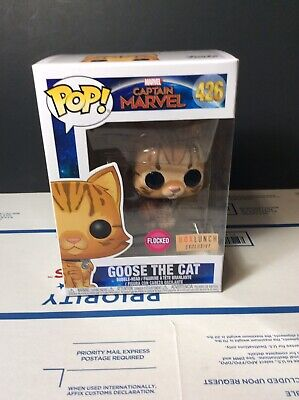 Funko Pop! Flocked Goose The Cat Captain Marvel BoxLunch Exclusive In Hand