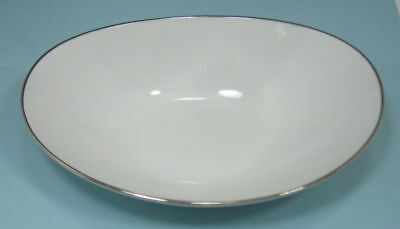 "Noritake China ""Colony"" Oval Vegetable Serving Bowl White 10 1/8"" Across"