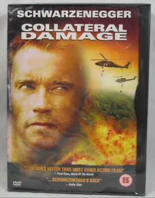Collateral Damage Arnold Schwarzenegger DVD Film New Sealed Free 1st Class Post