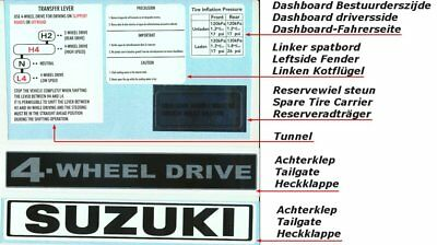 Suzuki LJ80 DECAL SET complete 16 pieces for thje whole car, stickersatz !