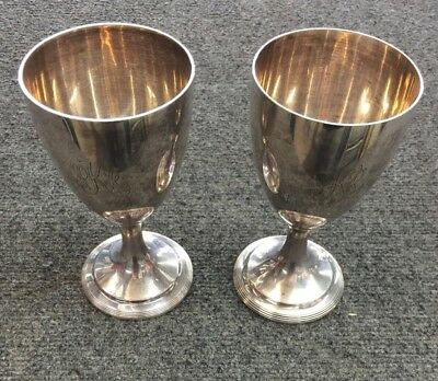 Set of 2 Tiffany & Co Sterling Silver Reproduction Goblets/Cups by Robert Salmon