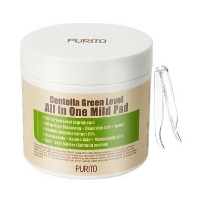 [PURITO] Centella Green Level All In One Mild Pad - 1pack (70pcs) / Free Gift
