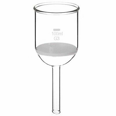 StonyLab Borosilicate Glass Buchner Filtering Funnel with Fine Frit, 65mm Disc D