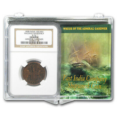 India 1808 10 Cash Wreck of the Admiral Gardner Set Medium Grade - SKU#182412