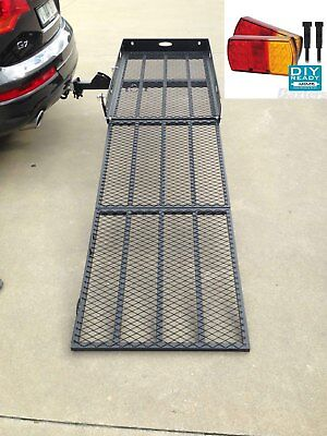Mobility Scooter Wheelchair Carrier Atv Ramp Trailer with LED Light kit & straps