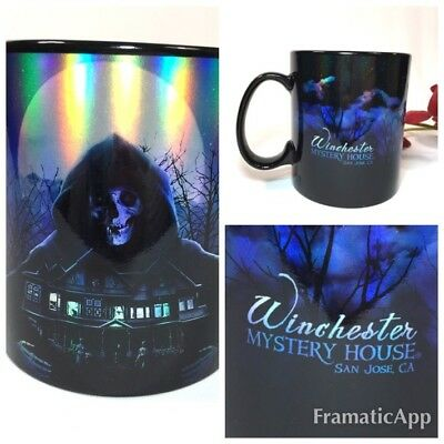 Winchester Mystery House, Souvenir Holographic Coffee Mug Cup San Jose Ca