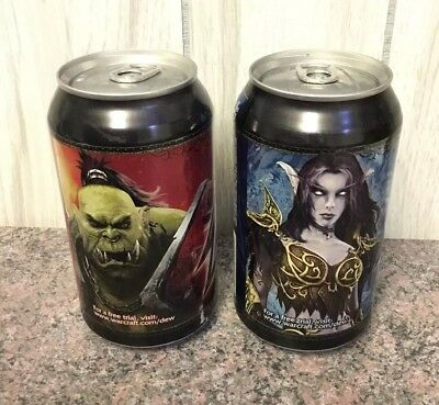 World Of Warcraft Mountain Dew Game Fuel Limited Edition Unopened But Drained -2
