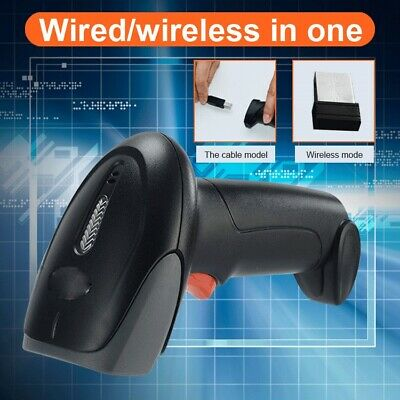 Wired/Wireless in one Barcode Scanner 8 codes Reader 1D 2D QR USB Connector