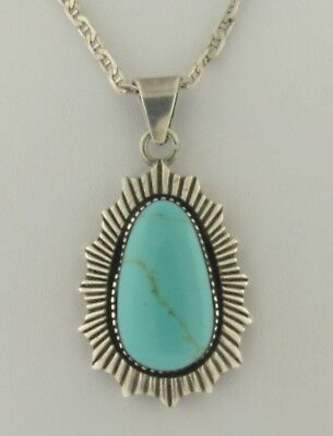 Vintage Turquoise Sterling Silver Necklace