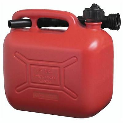 Cosmos Petrol Fuel Can - Red Plastic - 5 Litre - 3106 Genuine Top Quality