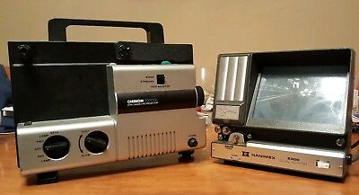 Chinon 2000gl Projector Plus Movie Editor And Tape Splicer and reels