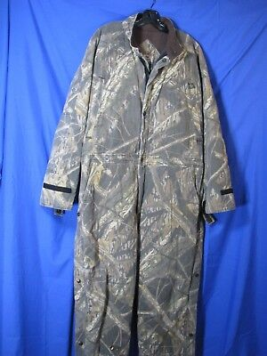 4b82252269ad4 Vintage MOSSY OAK BRAND Insulated Coveralls CAMO HUNTING OUTDOORS WORK Mens  L