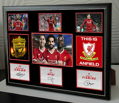 MO SALAH MANE FIRMINO A4 Framed Canvas Tribute Limited Edition Print  Signed