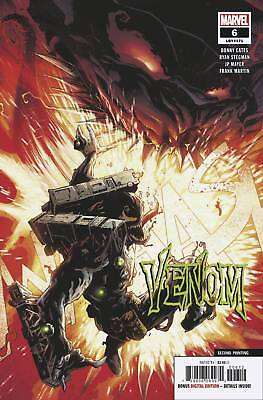 Venom #6 2nd Print Variant (2018 Marvel Comics) NM Cates Stegman