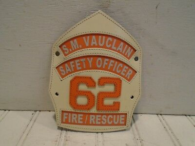 S.M. Vauclain Fire Rescue 62 Leather Front Ridley Township Folsom PA Safety Off