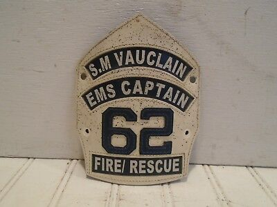 S.M. Vauclain Fire Rescue 62 Leather Front Ridley Township Folsom PA EMS Captain