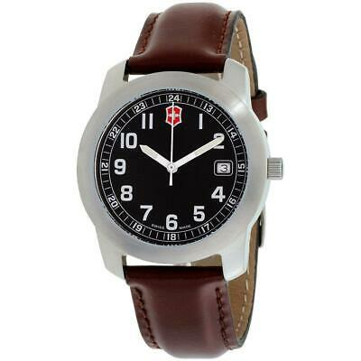 Victorinox Men's SWISS MADE Classic Black Dial Leather Strap Watch 26012CB