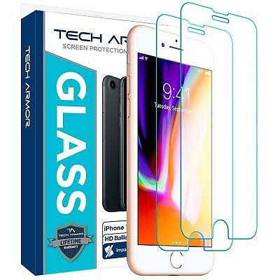 Screen Protector For iPhone 8 Plus Tempered Glass Ballistic,Pack of 2 Tech Armor
