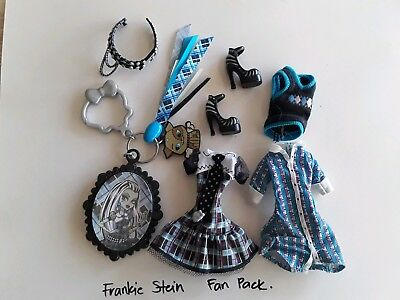 FRANKIE STEIN Doll Fan Pack MONSTER HIGH key ring clothes used Mattel
