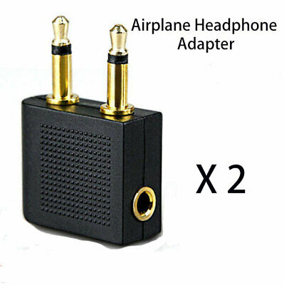 Airplane Airline Audio Adaptor Connector for Headphone 3.5mm Mono Male to Female