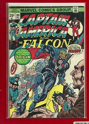 CAPTAIN AMERICA 180 BRONZE Age FIRST 1st NOMAD VG / FINE
