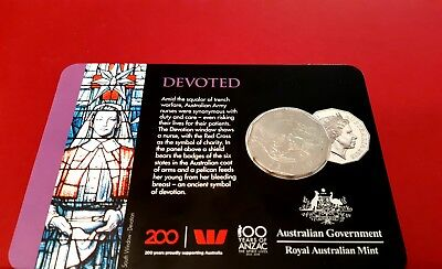 2018 Anzac Coin Program 8 Coin Release Devoted Card Coin Brand New