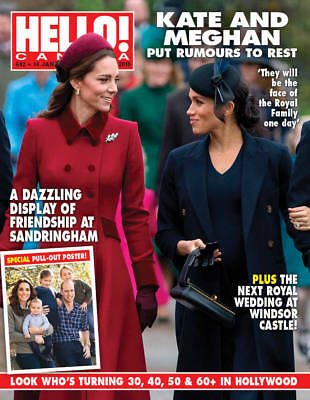 Hello Canada Magazine Kate & Meghan Rumours Brand NEW  #642 Jan. 2019 Poster