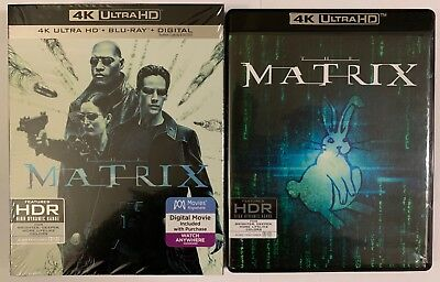The Matrix 4K Ultra Hd Blu Ray 3 Disc Set + Slipcover Sleeve Free World Shipping